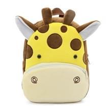 Kids 3D dier fluwelen rugzakken kinderen cartoon kleuterschool speelgoed geschenken school tassen (Giraffe)