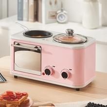 Multifunctioneel 4-in-één Huishoudbroodkoffiemachine  drie-pins CN Plug (Roze)