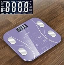 LCD display Body elektronische slimme weegschalen badkamer schaal digitale menselijke gewicht schalen (paars)