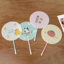 10 PCS Cartoon Summer Hand Fan Plastic Portable Handheld Cool Fan  Kleur: Random Color Delivery (534B)