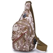 Oxford doek Leisure één schouder Cross Body Tas outdoor borst tas voor mannen (Desert Digital)