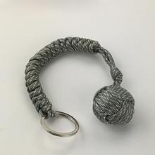 Buiten beveiliging bescherming zwart Monkey Fist staal kogellager Self Defense Lanyard Survival sleutel Chain(ACU camouflage)