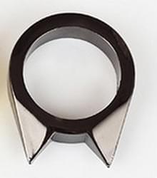 Vrouwen mannen veiligheid Survival Ring hulpmiddel zelfverdediging RVS vinger verdediging Ring(Black)