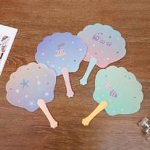 10 PCS Cartoon Summer Mini Portable Kleine Ventilator Plastic Draagbare Hand Ventilator  Kleur: Kleur en Patroon Willekeurige Levering (531A)