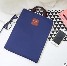 Waterdichte nylon rits Tablet zakelijke handtas  grootte: 35 x 27cm (marineblauw)
