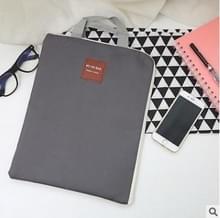 Waterdichte nylon rits Tablet zakelijke handtas  grootte: 35 x 27cm (grijs)