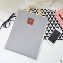 Waterdichte nylon rits Tablet zakelijke handtas  grootte: 35 x 27cm (lichtgrijs)