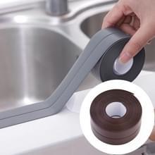 Duurzaam PVC materiaal waterdichte schimmel proof plakband keuken badkamer muur afdichting tape  breedte: 3.8 cm x 3.2 m (bruin)