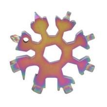 18-in-1 multi-tool Portable outdoor achthoekige Snowflake EDC gereedschap moersleutel mini schroevendraaier (kleurrijk)