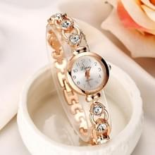 Lvpai P019 Retro armband roestvrij staal Rhinestone horloge voor Women(Gold)