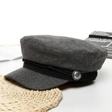 Casual Navy Cap zwarte wol Baker jongen Cap Frans schilder Cap voorjaar klassieke krantenverkoper caps (grijs)