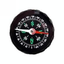 10 STKS DC45 draagbare mini precieze kompas praktische Guider voor Camping wandelen noordelijke navigatie Survival knop ontwerp kompas  diameter: 45mm (zwart)