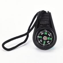 50 PC'S sleutelhanger mini kompas Gear Outdoor Camping wandelen Navigator Utility Gear Survival Pocket kompas tool (zwart)