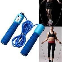Springen touwen met Counter sport fitness verstelbare snelle snelheid tellen Jump Skip touw skipping Wire (blauw)