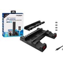 DOBE Voor PS4 / SLIM / PRO Multi-function Cooling Base Koelventilator + Disc Rack + Dual Charge met LED-verlichting