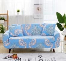 Sofa covers all-inclusive slip-resistente sectionele elastische volledige Bank cover sofa cover en kussensloop  specificatie: drie zits + 2 pc's kussensloop (blauwe Europese bloem)