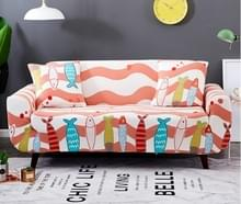 Sofa covers all-inclusive slip-resistente sectionele elastische volledige Bank cover sofa cover en kussensloop  specificatie: drie zits + 2 pc's kussensloop (kus vis)