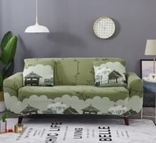 Sofa covers all-inclusive slip-resistente sectionele elastische volledige Bank cover sofa cover en kussensloop  specificatie: drie zits + 2 pc's kussensloop (platteland)