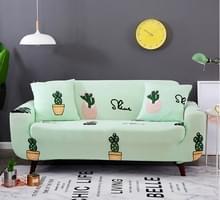 Sofa covers all-inclusive slip-resistente sectionele elastische volledige Bank cover sofa cover en kussensloop  specificatie: drie stoel + 2 stks kussensloop (de cactus)