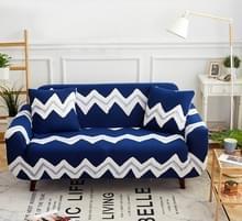 Sofa covers all-inclusive slip-resistente sectionele elastische volledige Bank cover sofa cover en kussensloop  specificatie: drie zits + 2 pc's kussensloop (Oceaan en hemel)