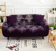 Sofa covers all-inclusive slip-resistente sectionele elastische volledige Bank cover sofa cover en kussensloop  specificatie: drie zits + 2 pc's kussensloop (paarse nacht)