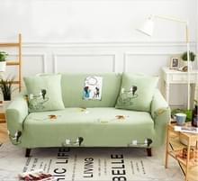 Sofa covers all-inclusive slip-resistente sectionele elastische volledige Bank cover sofa cover en kussensloop  specificatie: drie zetel + 2 pc's kussensloop (klein meisje)