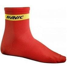 2 pairs sport ademend outdoor racefiets Racing Fietsen sport sokken  gratis grootte (rood)
