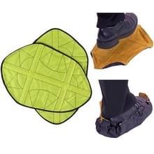 1 paar stap in hands free Shoe Cover (groen)