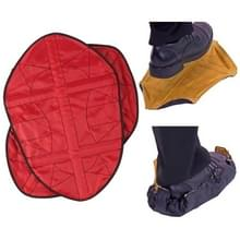 1 paar stap in hands free Shoe Cover (rood)