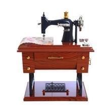 Mini kunststof Vintage muziekdoos naai machine stijl mechanische birthday gift tabel decor