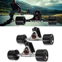 PUENTE 7 inch Skateboard P Bridge (Bracket) + 70 x 51mm Skateboard Wielen + ABEC-9 Lager + Beugel Rubber Pakking + Small Bridge Nail Combination Set (Zilver en Zwart )