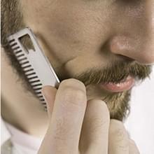 3 stuks metalen haar baard kam met flesopener multifunctionele Credit Card grootte tool