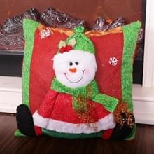 2 PCS Christmas Home Decoration Cartoon Stereo Doll Pillowcase Zonder Pillow Core (Sneeuwpop )