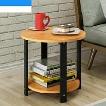 Klein huis houten salontafel eenvoudige moderne woonkamer sofa slaapkamer ronde thee tafel  grootte: 60 * 60 * 43cm (gele perenhout)