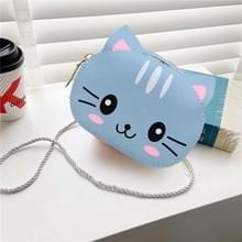 4 PCS Kinderen Mini Cute Cartoon Single Schoudertassen (Blue Kitten)