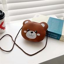 4 PCS Kinderen Mini Cute Cartoon Single Schoudertassen (Brown Bear)