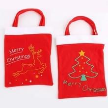 10 PCS kerstavond decoratie rugzak cadeautas (kerstboom)