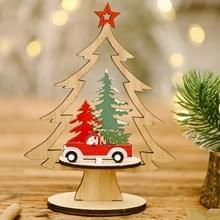 6 PCS kerstversiering Festival levert houten diy kerstboom decoratie desktop decoratie (auto )
