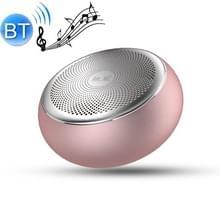 G1 Upgraded Versie geluidskwaliteit lossless kleine stalen kanon minikaart draadloze Bluetooth speaker (Rose Gold )