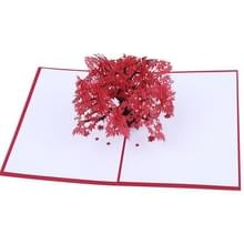 Driedimensionale Maple Tree wenskaart wenskaart Rode Maple Leaf 3d-kaart
