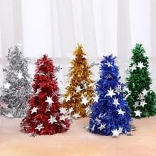 6 PCS Mini Desktop Christmas Tree Hotel Shopping Mall kerstversiering  stijl: met vijfpuntige ster (Groen)