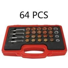 Auto olie pan olie afvoer schroef schuiftand reparatie tool olie bodem schroef  specificatie: 64 PC's in 1
