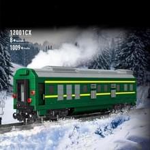12001cx NJ2 Internal Combustion Locomotive Remote Control Green Train Puzzle Geassembleerd Building Block Children Speelgoed Model