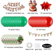 12 Inch Sequin Mall Decoration Balloon Christmas Set (Rose Gold letters)