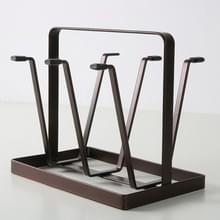 2 PCS Huishouden dagelijkse benodigdheden Iron Art Water Upside Down Drain Cup Shelf Keuken Cup Holder (Brons Goud)