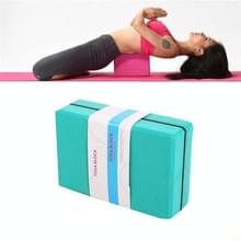 Twee-kleuren High-Density EVA Gewogen Yoga Bricks Yoga Aids Dance Praktijk Bakstenen (Groen)