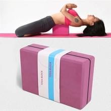 Twee-kleuren High-Density EVA Gewogen Yoga Bricks Yoga Aids Dance Praktijk Bakstenen (Dark Purple)