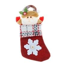 4 PCS Kleine Kerst kous Hanger Decoratie Candy Bag (Senior)