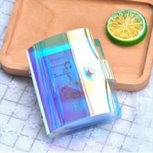 3 STKS draagbare hand holding portemonnee Phantom Laser Credit Card pakket Business ID opbergtas  willekeurige kleur levering (20 kaarten)