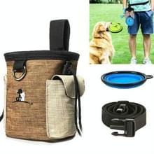 Outdoor Pet Training Bag Dog Training Pockets Pet Snack Opbergtas Zakken  Specificatie: Waist Bag + Folding Bowl